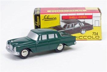 Modellauto:Mercedes-Benz 220 SE, dunkelgrün(Schuco/Piccolo, 1:90)