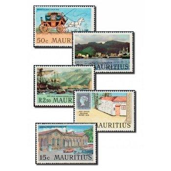 Port Louis - 5 Briefmarken postfrisch, Katalog-Nr. 366-370, Mauritius