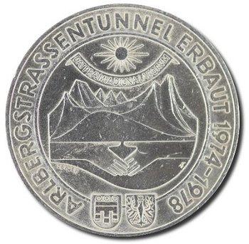 """100-Schilling-Münze """"Eröffnung des Arlberg Straßentunnels"""", Österreich"""