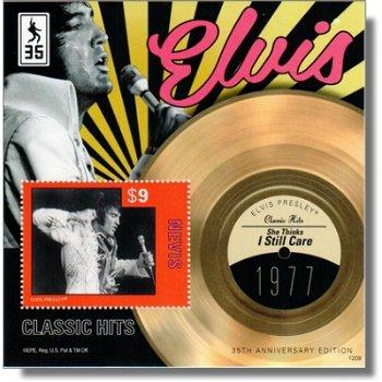 Elvis Presley - Briefmarkenblock postfrisch, Nevis