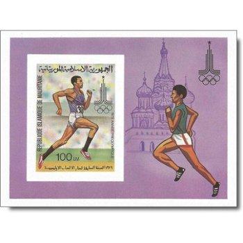 Olympische Sommerspiele 1980, Moskau - Briefmarken-Block ungezähnt postfrisch, Katalog-Nr. 656 Bl. 2