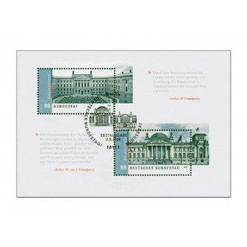 Deutscher Bundestag und Bundesrat, Block 76 gestempelt, Katalog-Nr. 2757-2758, Bundesrepublik