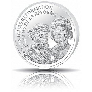 500 Jahre Reformation, 20 Franken Silbermünze 2017, Polierte Platte, Schweiz