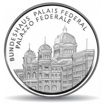 Bundeshaus Bern, 20 Franken Münze 2006 Schweiz, Polierte Platte