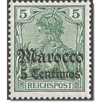 Deutsche Post in Marokko, Freimarke Kat.-Nr. 20