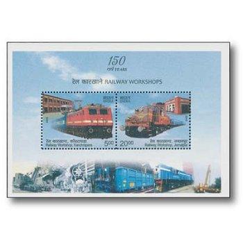 150 Jahre Eisenbahn - Briefmarken-Block postfrisch, Indien