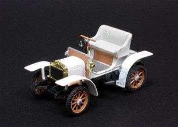 Modellauto:Laurin & Klement - Škoda Voiturette von 1905, weiß(Abrex, 1:43)