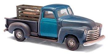 Modellauto:Chevrolet Pick-Up mit Schweinekiste(Busch, 1:87)