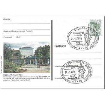 """5650 Solingen - Bildpostkarte """"Stadtsaal"""""""