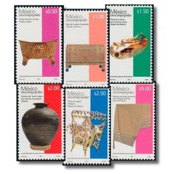 Kunsthandwerk - 17 Briefmarken postfrisch, Katalog-Nr. 3228-3245 IV, Mexiko