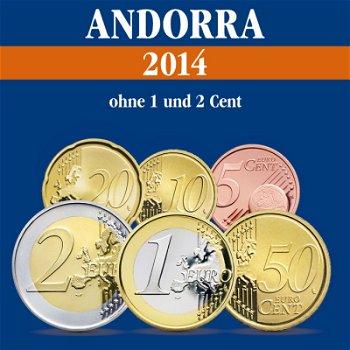 Andorra - Kursmünzensatz 3,85 Euro, 2014