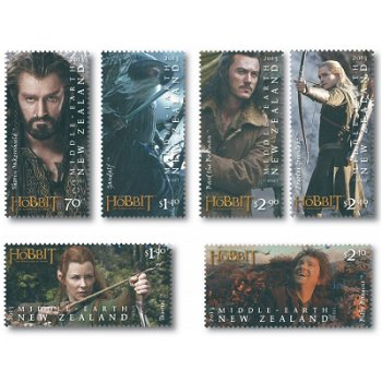 Der Hobbit, Teil 2, Smaugs Einöde - 6 Briefmarken postfrisch, Neuseeland