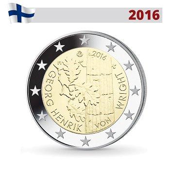 Georg Henrik von Wright, 2 Euro Münze 2016, Finnland