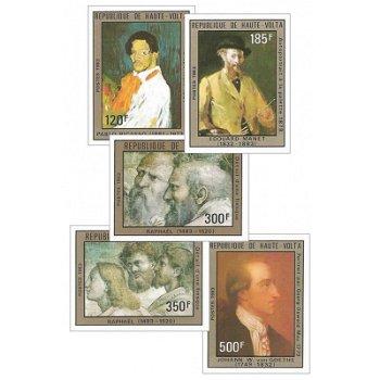 Gemälde – Briefmarken postfrisch, ungezähnt, Katalog-Nr. 921-925, Obervolta