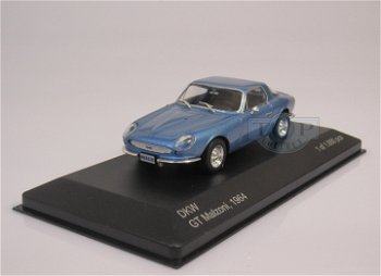 Modellauto:DKW GT Malzoni von 1964, blau(WhiteBox, 1:43)