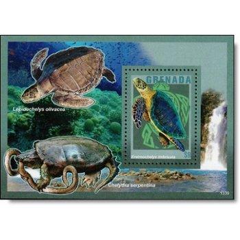 Wasserschildkröten II - Briefmarken-Block postfrisch, Grenada