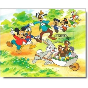 """Disney """"Ostern"""" - Briefmarken-Block postfrisch, Dominica"""