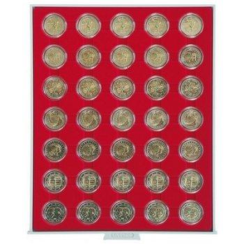 LINDNER Münzenbox für 2 €-Münzen verkapselt, Standard, LI 2530