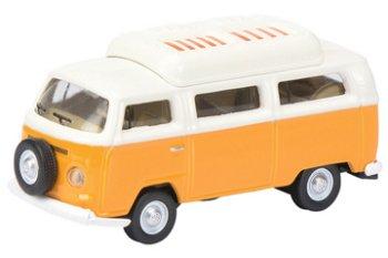 Modellauto:VW T2a Campingbus, orange(Schuco, 1:87)