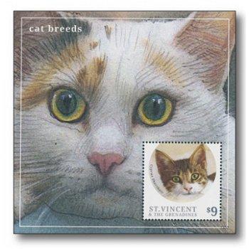 Zypernkatze - Briefmarken-Block postfrisch, Katalog-Nr. 7140, St. Vincent