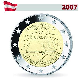 2 Euro Münze 2007, 50 Jahre Römische Verträge, Österreich