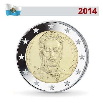 2 Euro Münze 2014, Giacomo Puccini, San Marino