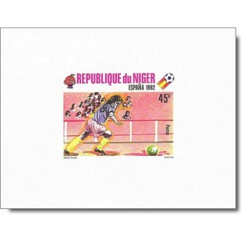 """Fußballweltmeisterschaft 1982 """"Kartonpapier"""" - 5 Luxusblocks postfrisch, Katalog-Nr. 719-7"""