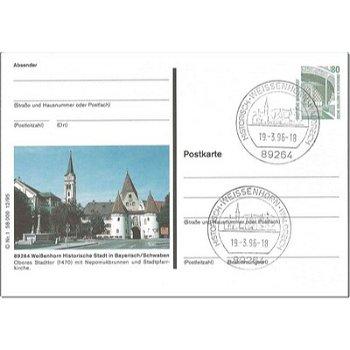 """7912 Weissenhorn - Bildpostkarte """"Stadttor und Stadtpfarrkirche"""""""