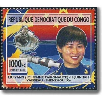 Chinesische Weltraumfahrer - Briefmarke postfrisch, Kongo