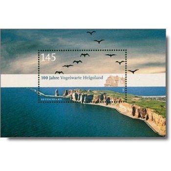 100 Jahre Vogelwarte Helgoland, Block 77 postfrisch, Katalog-Nr. 2792, Bundesrepublik