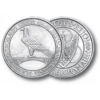 Rheinlandräumung, 3 Reichsmark, Jaeger-Nr. 345, Weimarer Republik