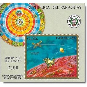 Erforschung des Mars - Briefmarken-Block postfrisch, Katalog-Nr. 2487 Bl. 209, Paraguay