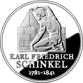 225. Geburtstag Karl Friedrich Schinkel, 10-Euro-Silbermünze 2006, Polierte Platte