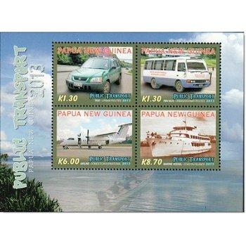 Transportmittel II - Briefmarken-Block postfrisch, Papua Neuguinea
