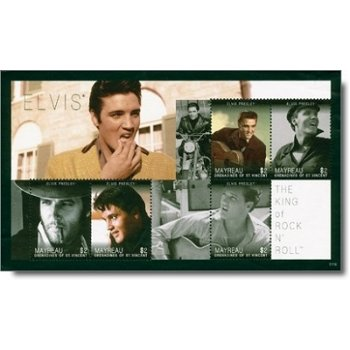 Elvis Presley - Briefmarkenblock St. Vincent, postfrisch