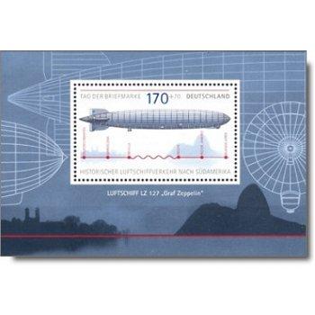 Historischer Luftschiffverkehr nach Südamerika - Briefmarken-Block Nr. 69 postfrisch, Katalog-Nr. 25