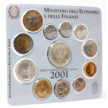 Kursmünzensatz 2001 Stempelglanz/Giuseppe Verdi, Italien