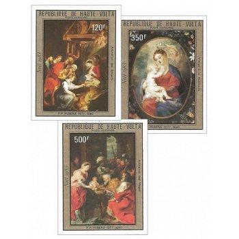 Weihnachten – Briefmarken postfrisch, ungezähnt, Katalog-Nr. 926-928, Obervolta