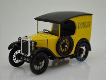Modellauto:Austin Seven Van - Dunlop - von 1928, gelb(IXO Models, 1:43)