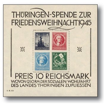 Weihnachtsblock, Block 2 t postfrisch, Sowjetische Zone Thüringen