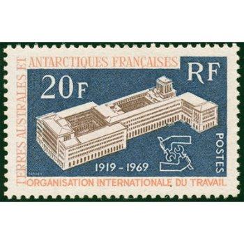 50 Jahre Internationale Arbeitsorganisation - Briefmarke postfrisch, Katalog-Nr. 55, TAAF