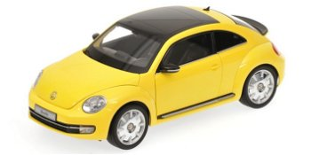 Modellauto:VW Beetle von 2011, gelb(Kyosho, 1:18)