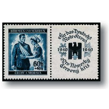 Rotes Kreuz - 2 Briefmarken postfrisch, Katalog Nr.53 - 54 Zf, Böhmen und Mähren