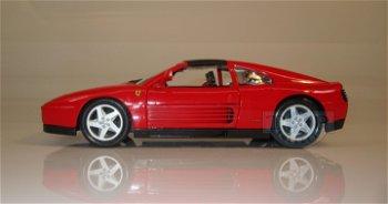 Modellauto:Ferrari 348 ts, rot(Bburago, 1:18)