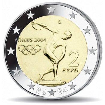 Olympische Sommerspiele, 2 Euro Münze 2004, Griechenland
