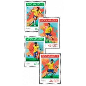 Fußball-Weltmeisterschaft - 4 Briefmarken postfrisch, Mocambique