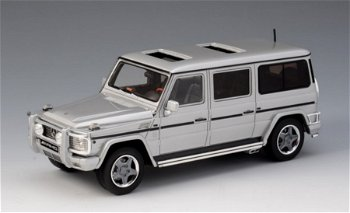 Modellauto:Mercedes-Benz G 63 AMG (W463) lang von 2002, silber-metallic(GLM, 1:43)
