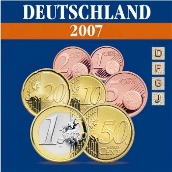 Germany - Mint set 2007, mint marks D, F, J, G