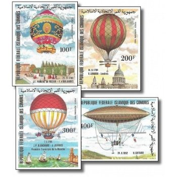 200 Jahre Luftfahrt – Briefmarken postfrisch, ungezähnt, Katalog-Nr. 681-684, Komoren