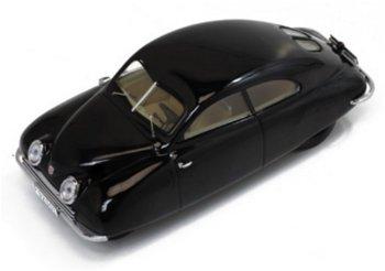 Modellauto:Saab 92001 - Ursaab - von 1947, schwarz(PremiumX, 1:43)